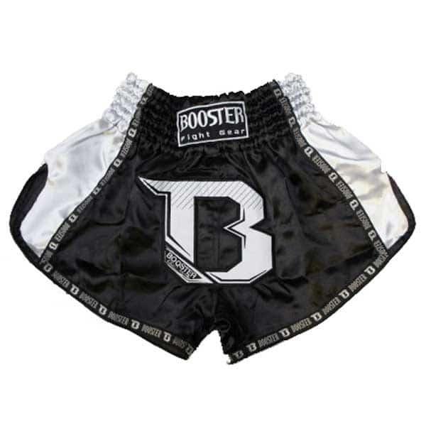 short boxe thai booster tbt pro noir blanc asia sport. Black Bedroom Furniture Sets. Home Design Ideas