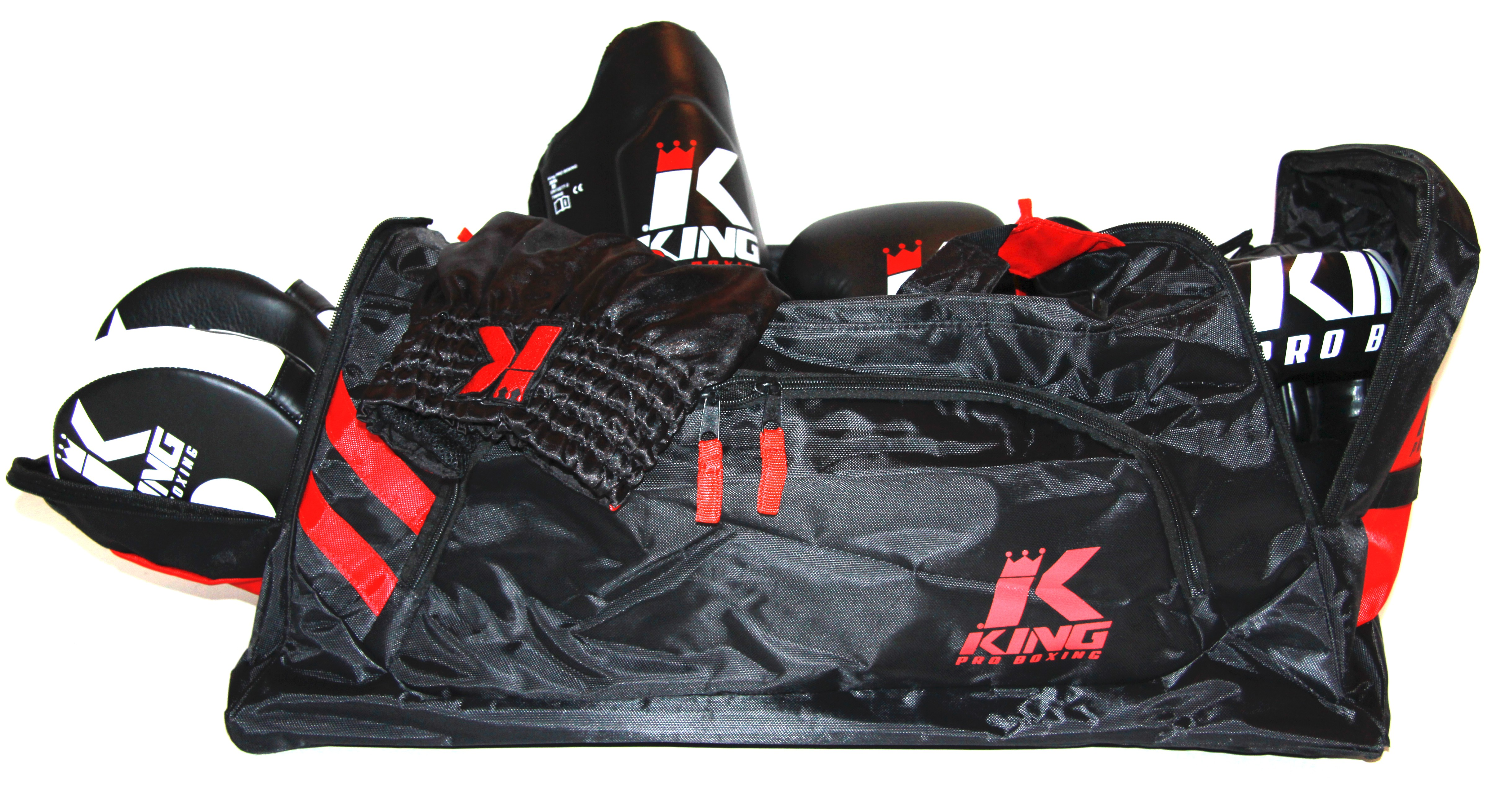 sac convertible king pro boxing couleur noir rouge asia sport. Black Bedroom Furniture Sets. Home Design Ideas