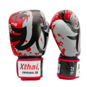 Xthai Gants de Boxe Tribal Dragon Rouge / Noir